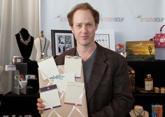 """Raphael Sbarge of """"Once Upon a Time"""" with BeezKneez Designs"""