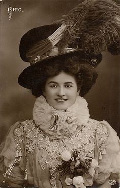 When an Edwardian woman bought a hat, she BOUGHT A HAT. Pic from 1911