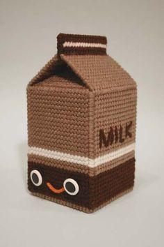 plastic canvas & crochet created by Nicole Gastonguay , no pattern