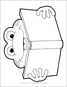 Frog Theme Classroom, Frog Activities, Frog Crafts, Kindergarten Themes, Class Decoration, Art Drawings For Kids, Frog And Toad, School Themes, Colouring Pages