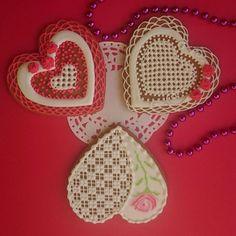 Купить Пряник Сердце на День Валентина - пряники ручной работы, имбирные пряники, имбирное печенье