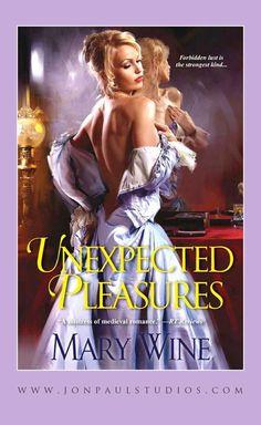 Unexpected Pleasures, Mary Wine author, artwork by JonPaul Studios.