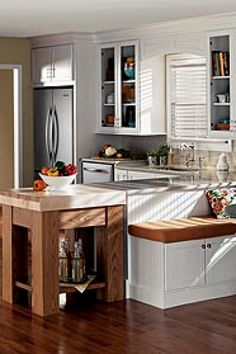 Explore Merillat Cabinets, your preferred source for exquisite kitchen and bath cabinets and accessories, design insipiration, and useful space planning tools. Country Kitchen Lighting, Modern Kitchen Lighting, Kitchen Lighting Fixtures, Industrial Lighting, Kitchen Country, Bathroom Lighting, Light Fixtures, Kitchen Industrial, Kitchen Modern