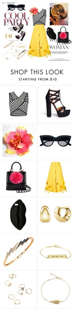 """""""COOL PARTY <3"""" by marikiki1 on Polyvore featuring moda, Aquazzura, Les Petits Joueurs, Rosie Assoulin, STELLA McCARTNEY, BERRICLE, Bee Goddess, cool, outfit y croptop"""