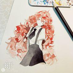 Cool Drawings, Drawing Sketches, Manga Watercolor, Cute Art Styles, Dibujos Cute, Manga Illustration, Anime Sketch, Copics, Pretty Art