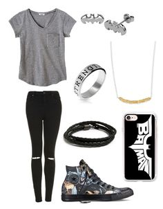 """Batman fan"" by cjandersonhaley on Polyvore featuring Topshop, MIANSAI, Converse, Casetify and Bling Jewelry"