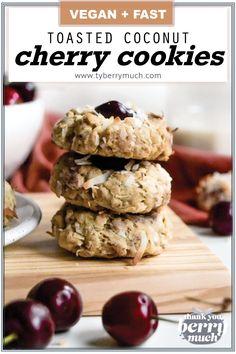 Healthy Vegan Cookies, Vegan Sweets, Vegan Snacks, Vegan Dessert Recipes, Vegan Recipes Easy, Cookie Recipes, Vegan Calcium, Vegan Cinnamon Rolls, Coconut Flakes