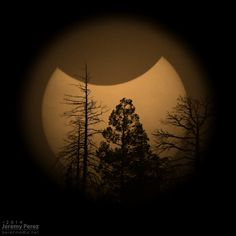 "Partial Solar Eclipse. (2013-10-23)  (Credit: Jeremy Perez Flagstaff, Arizona, USA) This is a splendid photo of the eclipse. Mona Evans, ""Solar Eclipses"" http://www.bellaonline.com/articles/art28395.asp"