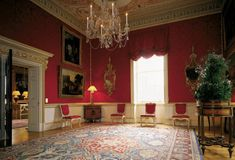 The private drawing room where Lady Spencer received her guests, this room was described by Arthur Young in 1772 as 'fitted up with great ta. Lady Spencer, Spencer House, Spencer Family, English Interior, English Decor, Belton House, Houghton Hall, Georgian Interiors, State Room