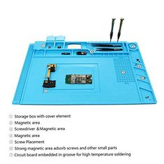 Anytime it comes to very good and very affordable product, you definitely ought to take a glance  at the Magnetic Heat Insulation Silicone Mat Repair Kit,Heat-resistant Soldering Mat Silicone Heat Gun BGA Soldering Station Insulation Pad Repair Tools for Mobile Phone and Computer Repair...