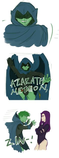 Omg i totally ship beastven( beastboy and Raven) this picture makes me laugh every time