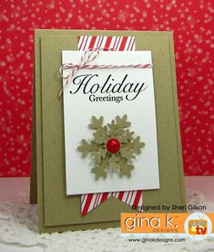 Card by Sheri Gilson.  Features Dashing stamp set illustrated by Theresa Momber for Gina K. Designs. www.shop.ginakdesigns.com