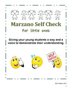 "This Marzano Primary Self-Check Rating Scale is perfect for Pre-K, Kindergarten, First and Second Grades. It is easy for young children to understand.   As the teacher gives their lesson, they can have the children ""Self Check"" throughout to see who is understanding what is being taught and who may need more help."