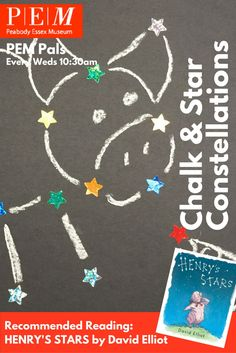 PEM Pals - 9/7/2016 Chalk and Star Constellations Click through for instructions.
