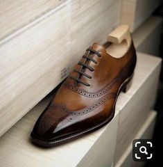 Handmade Men's Wing Tip Shoes, Men's Classic Finished Brown Leather Wing Tip Shoes. Shoe Material Leather Shoe Lining Soft leather Shoe Sole genu Dress Up Shoes, Men Dress, Men's Shoes, Shoe Boots, Shoes Style, Gentleman Shoes, Mens Boots Fashion, Brown Shoe, Men's Footwear