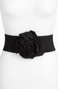 Natasha Couture Flower Stretch Belt available at #Nordstrom