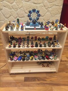 my selfmade Lego Dimensions storage on wheels. There's room for 126 figures + a storage for the different story pack portals.