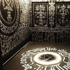 """occult-pit: """" installation by the Swedish artist @zighix """""""
