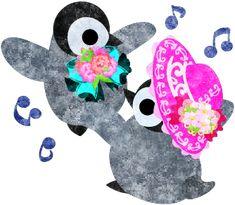 踊るおしゃれで可愛い赤ちゃんペンギン