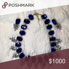 """NOT FOR SALE A one of a kind set, only found in this listing! Perfect to pair with an elegant dress or a tshirt, jeans and blazer. Necklace measures approximately 17"""". Earrings are 1.5"""" long. Set in a gold tone setting. Bedecked & Bedazzled Jewelry Necklaces"""