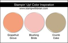 Stampin' Up! Color Inspiration: Grapefruit Grove, Blushing Bride, Crumb Cake