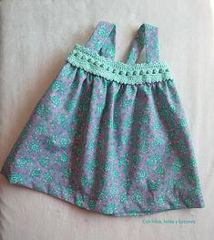 Con hilos, lanas y botones: vestido con canesú de ganchillo para bebé   baby…