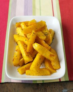 Baked Polenta Fries - made these tonight and Declan and Gwendolyn loved them. Thank you Martha!