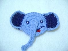 COTTON Crochet Applique  elephant. $4.00, via Etsy.