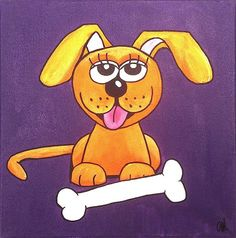 Cute Mischievous Puppy Dog by LollipopDesignsAU on Etsy, $50.00
