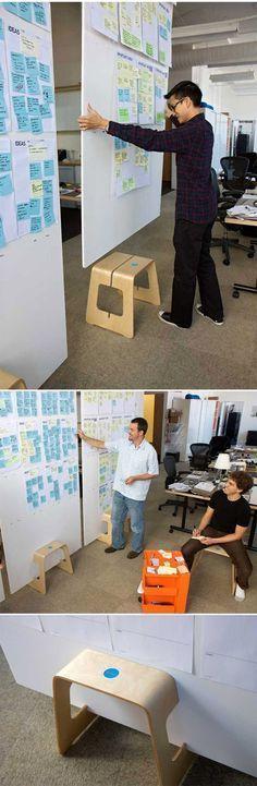 A little Ikea hack from Daylight - Fome-Cor board stand http://www.daylightdesign.com/ikeahack/