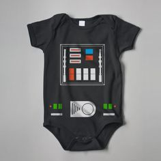Cute Side of the Force  Darth Vader Baby Rib Short by NobodyisUgly, $18.00
