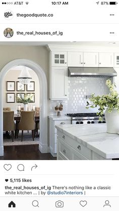 Pinned because I love the rounded doorway. This would be great in the walkway to the pantry and dining room