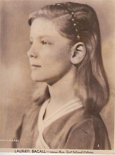 Young Lauren Bacall...always a beauty