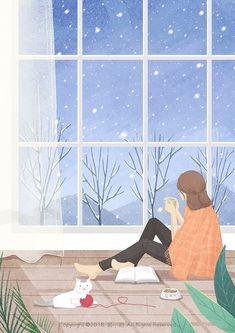 Kawaii Drawings, Cute Drawings, Isometric Art, Korean Art, Anime Scenery, Cartoon Wallpaper, Anime Art Girl, Illustrations And Posters, Cute Illustration