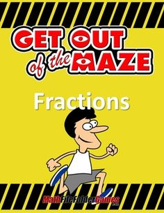 """Fractions: Fraction Maze BUNDLEThis is a """"growing"""" bundle, so get it now before the price increases!Fractions are important for students to memorize, but practicing these can be a bore; these 11 mazes add a fun factor to practicing fractions so that students will actually look forward to completing their math work.These mazes build in difficulty so that you can easily differentiate for your different learners while maintaining rigorous instruction for all of your students.Get the complete…"""