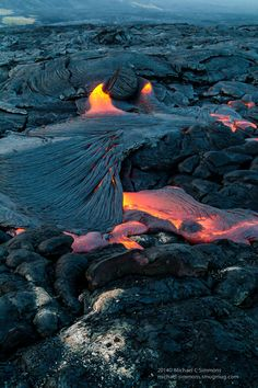 ~~Lava in Hawaii ~ Big Island by Michael Simmons~~ Beautiful Photos Of Nature, Amazing Nature, Nature Photos, Beautiful World, Beautiful Places, Amazing Places, Dream Vacations, Vacation Spots, Places Around The World