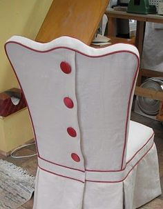Dining Room Chair Slip Cover Detail