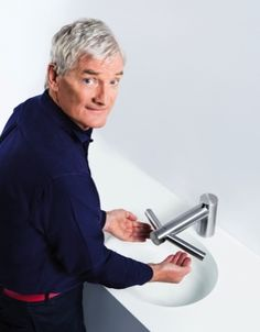 The new Dyson Airblade Tap Hand-Dryer, demonstrated by the legend that is James Dyson himself!