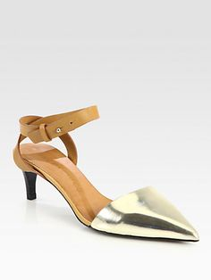 SEE BY CHLOE  see details here:Metallic Leather Ankle Strap Pumps