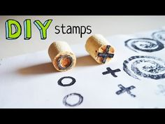 DIY stamps: 4 easy (and cheap) ways - YouTube