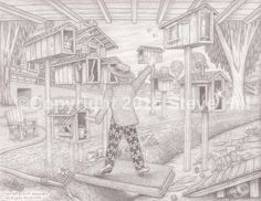 """ The Song and Dance Man "" #fineart #pencildrawing #surreal"