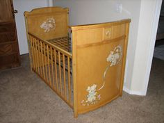 Unique Retro Baby Crib
