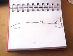 Ilustrador Alexiev Gandman: Paso a paso para dibujar una ballena