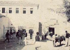 Plaka Prison 1895   This building was demolished in 1914. It…   Flickr Plane Tree, Greece Pictures, Old Planes, Greek History, Athens Greece, Vintage Pictures, Historical Photos, Old Photos, Prison