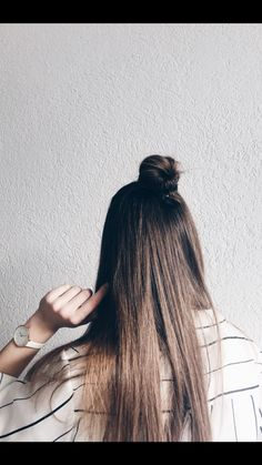 #hair #inspo #ootd #fashion #halfbun #lovely #instagram #whitefeed