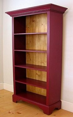 Classic Tall Bookcase - back in red cedar Refurbished Furniture, Paint Furniture, Repurposed Furniture, Furniture Projects, Furniture Makeover, Table Furniture, House Furniture, Antique Furniture, Bedroom Furniture