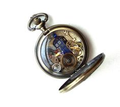 Doctor Who Pocket Watch Necklace  by TimeMachineJewelry