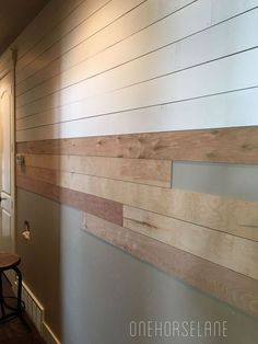 diy shiplap wall easy cheap and beautiful part 1, diy, how to, wall decor, woodworking projects