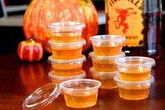 Apple cider & Fireball jello shots
