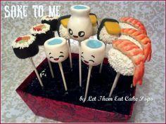 Sake and Sushi cake pops